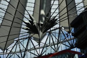 berlin sony center dachkonstruktion seile