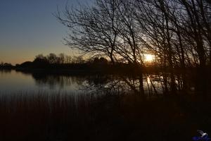 Sonnenuntergang an der Schlei bei Lindaunis