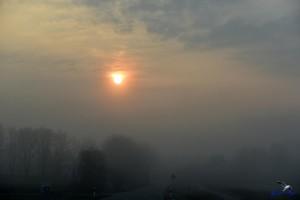 Sonne im Nebel bei Ketelsby