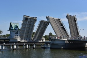 Die Klappbrücke in Kappeln/Schlei