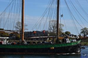 Segelschiff im Kappelner Hafen